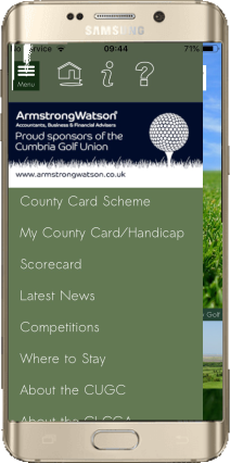 Advertise on the Cumbria Golf App